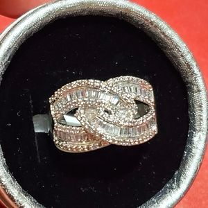 Gold Plated Cubic Zirconia Ring size 10